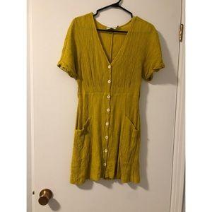 Mustard Button Up Dress
